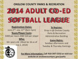 middletown adult coed softball