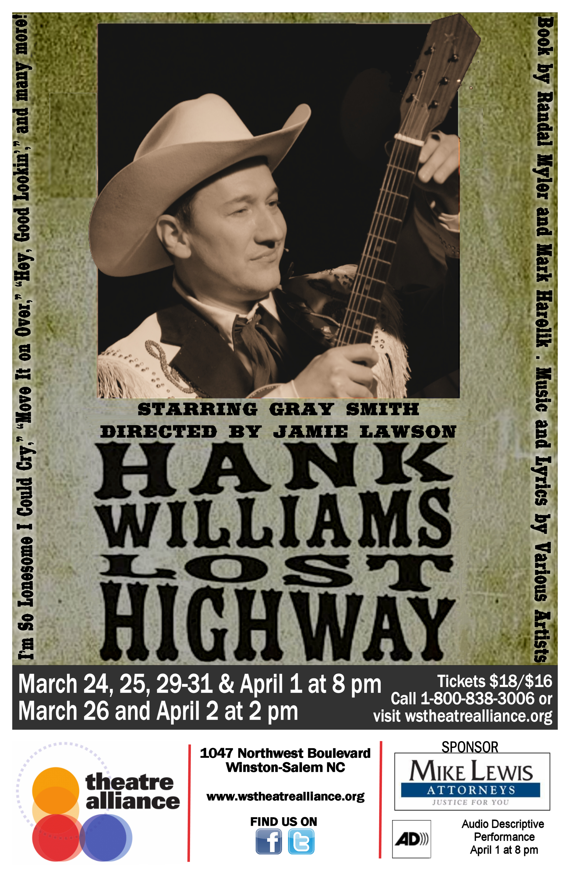 Theatre Alliance presents Hank Williams: Lost Highway