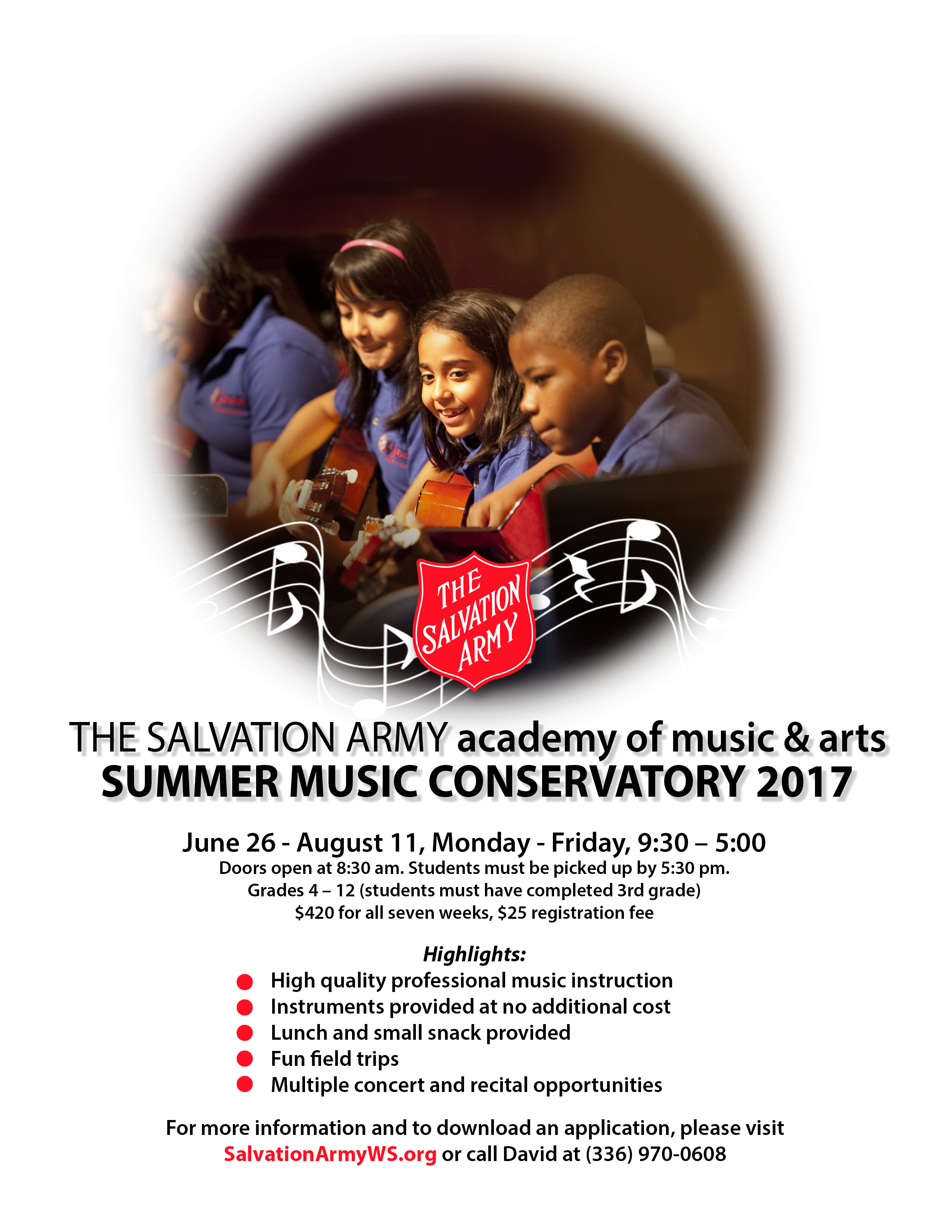 The Salvation Army Academy of Music & Arts Summer Conservatory