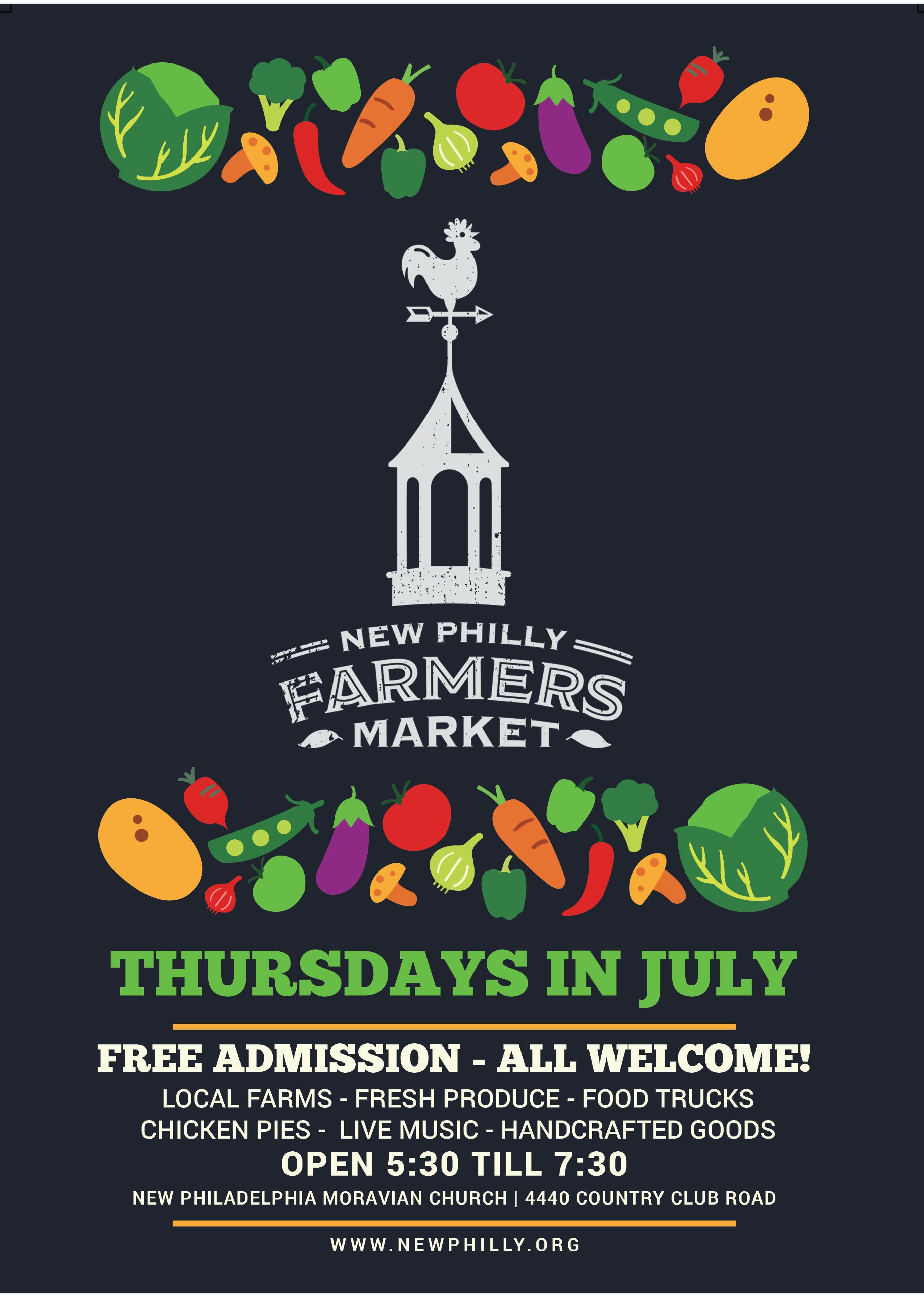 Community Farmers Market and More - Thursdays in July
