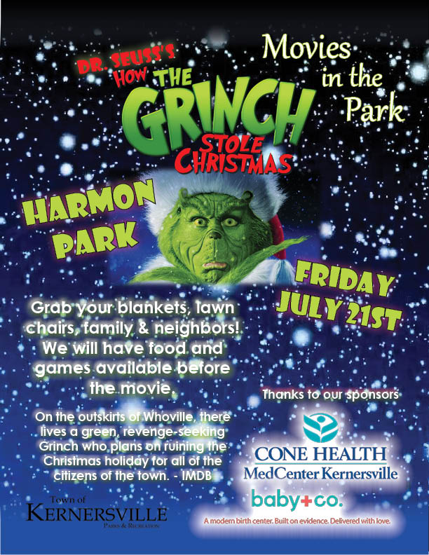 Movie in the Park: How the Grinch Stole Christmas
