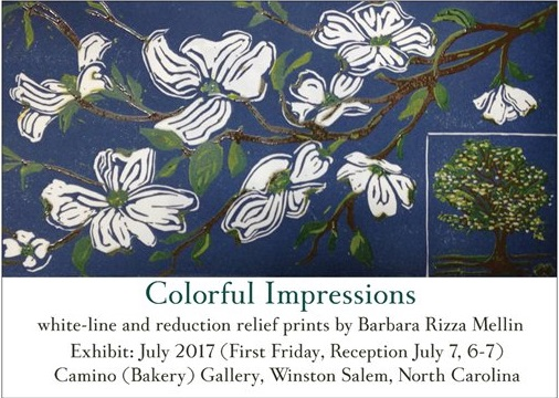 Colorful Impressions: Exhibit of Prints by Barbara Rizza Mellin