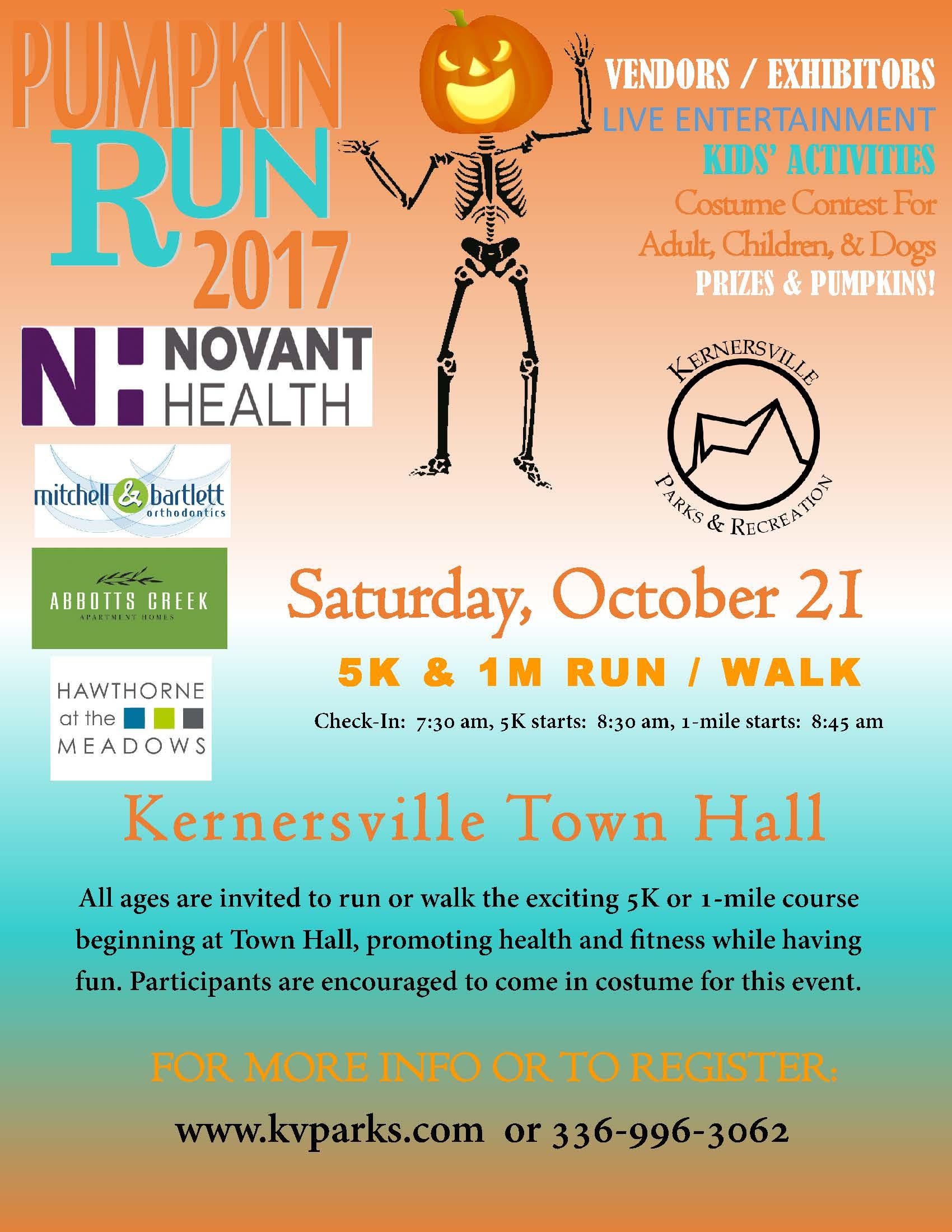 Pumpkin Run 5K and 1-mile Fun Run
