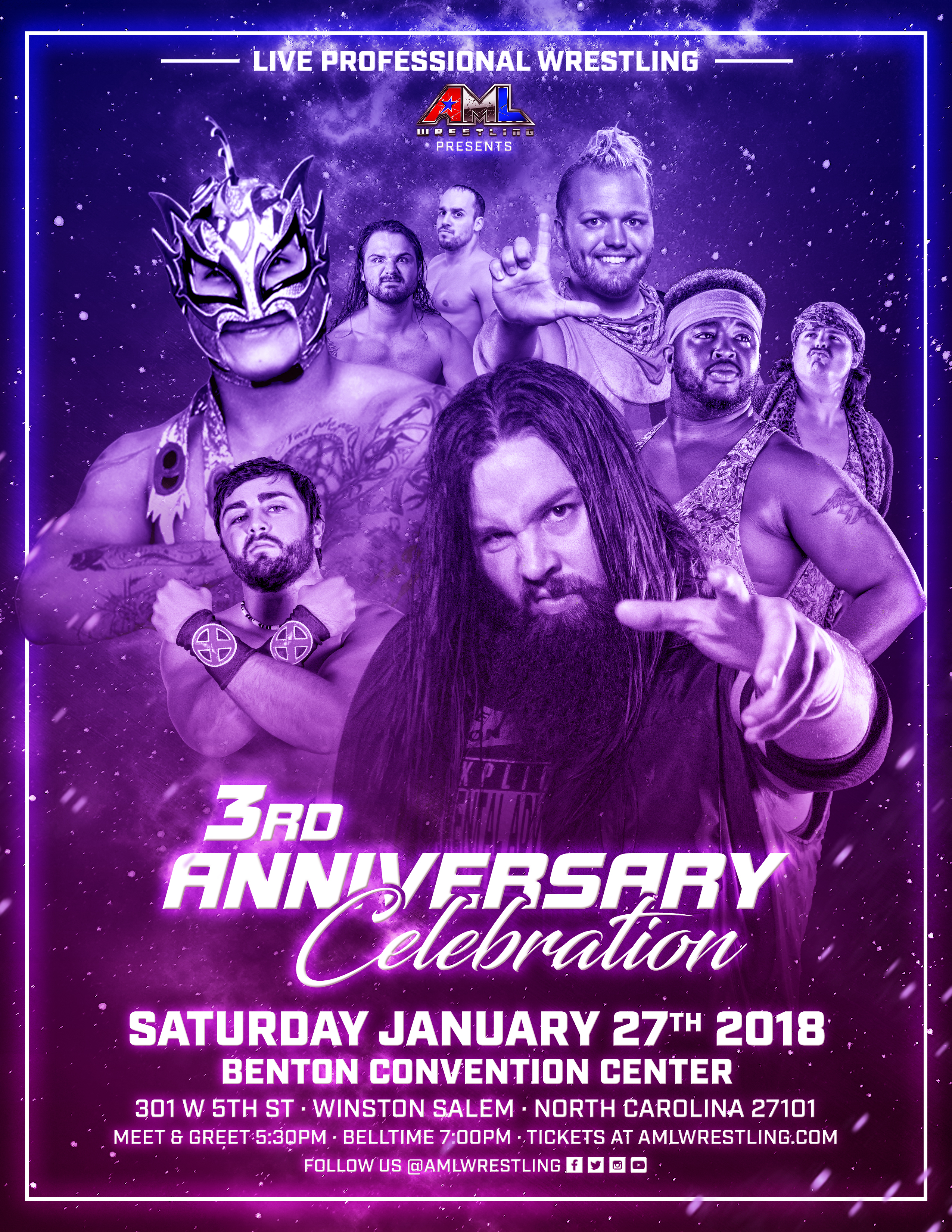 Family-Friendly Pro Wrestling Returns To Winston-Salem, NC For A TV Taping