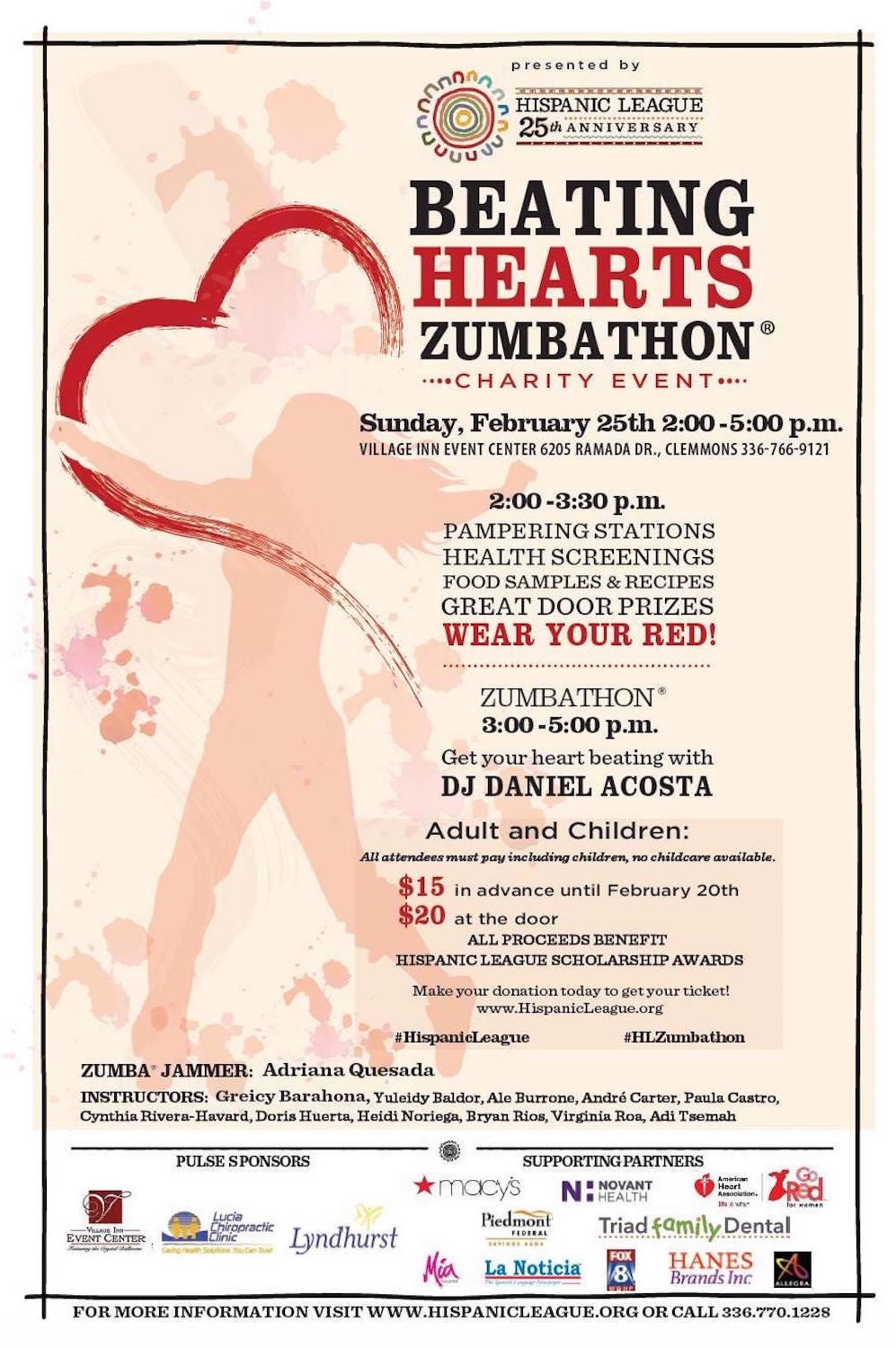 2018 Hispanic League Beating Hearts Zumbathon® Charity Event
