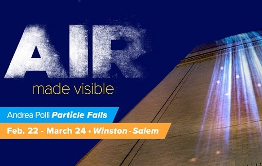 Particle Falls: Public Art Light Installation