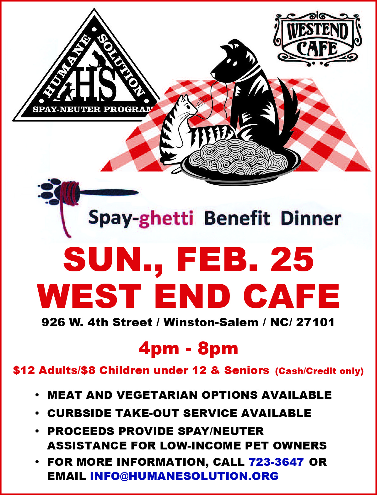 Spay-ghetti Benefit Dinner