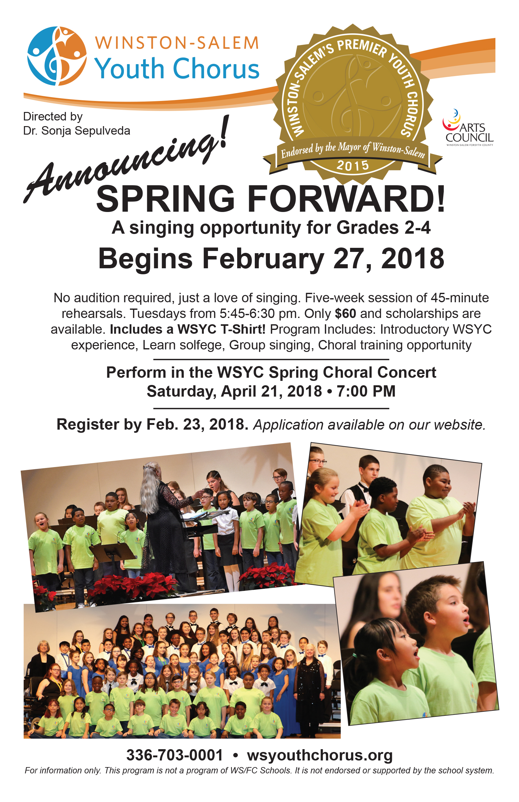 Winston-Salem Youth Chorus Spring Forward