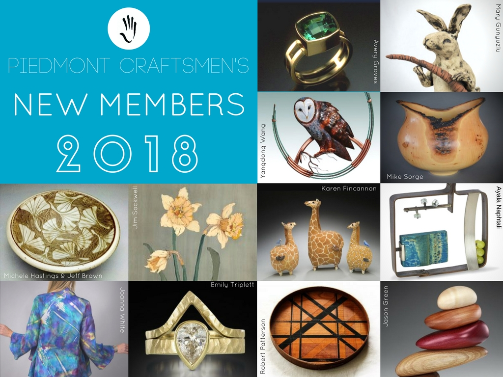 2018 New Members' Exhibit at Piedmont Craftsmen