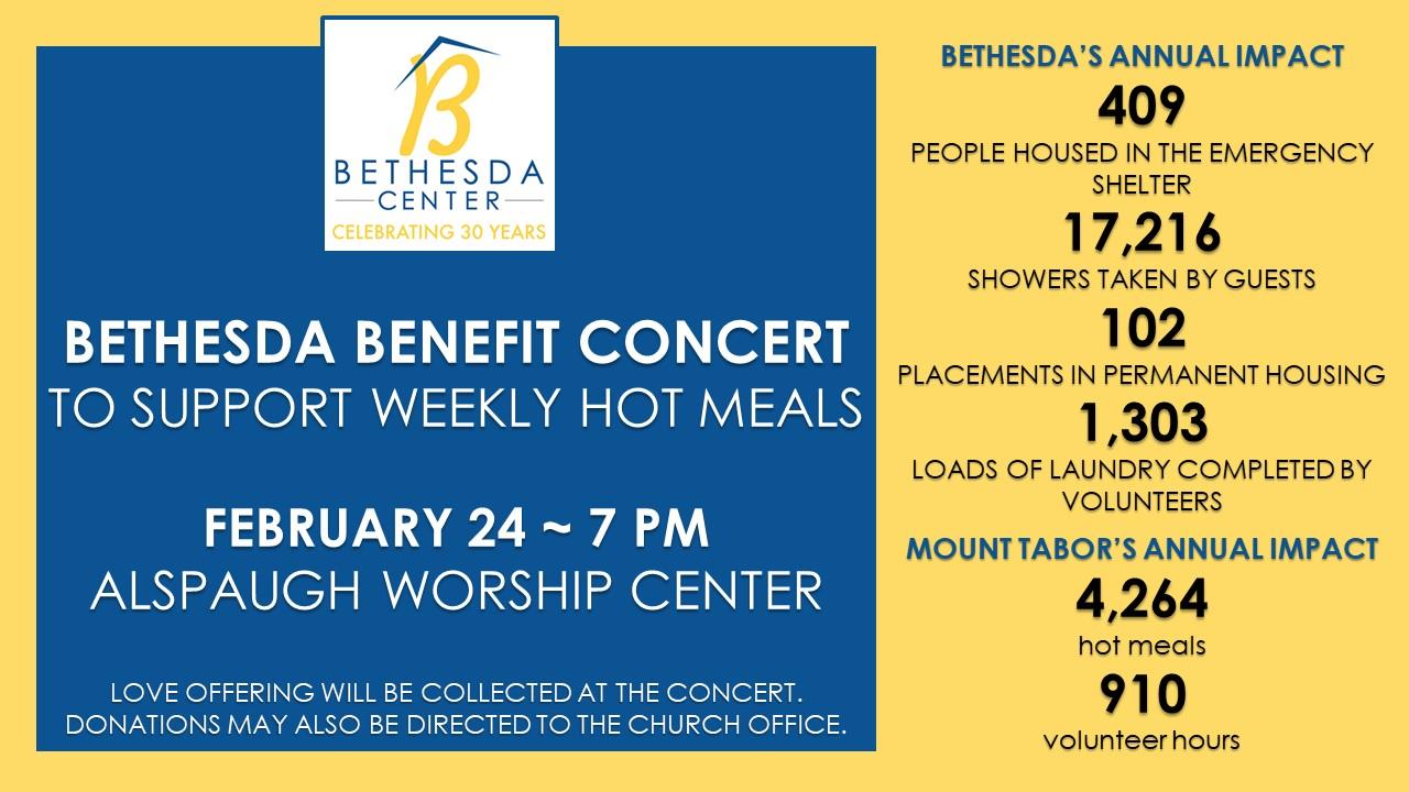 Bethesda Center Benefit Concert