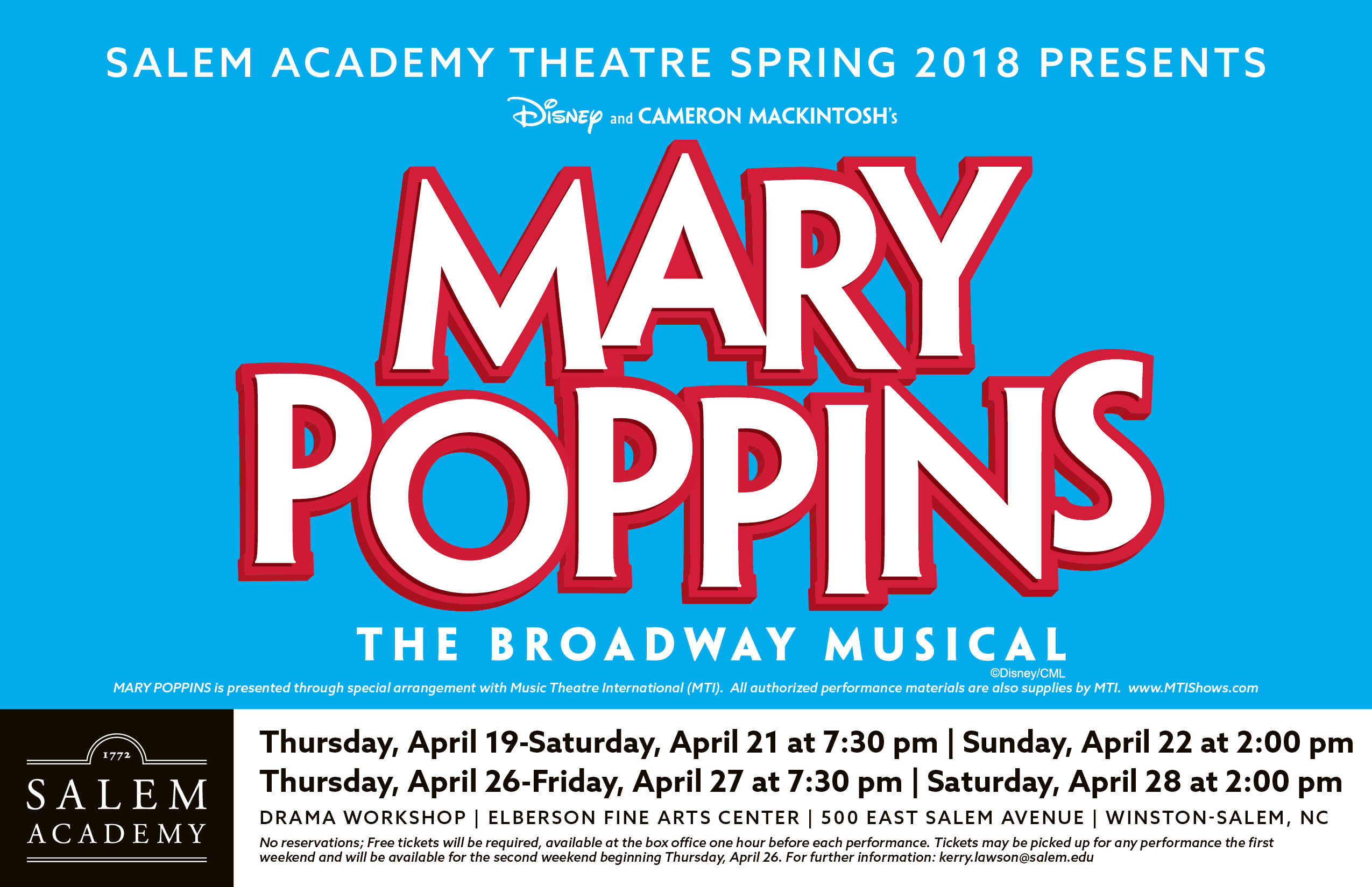 MARY POPPINS THE MUSICAL by Salem Academy