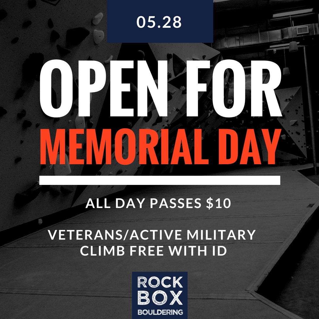 Memorial Day with Rock Box Bouldering