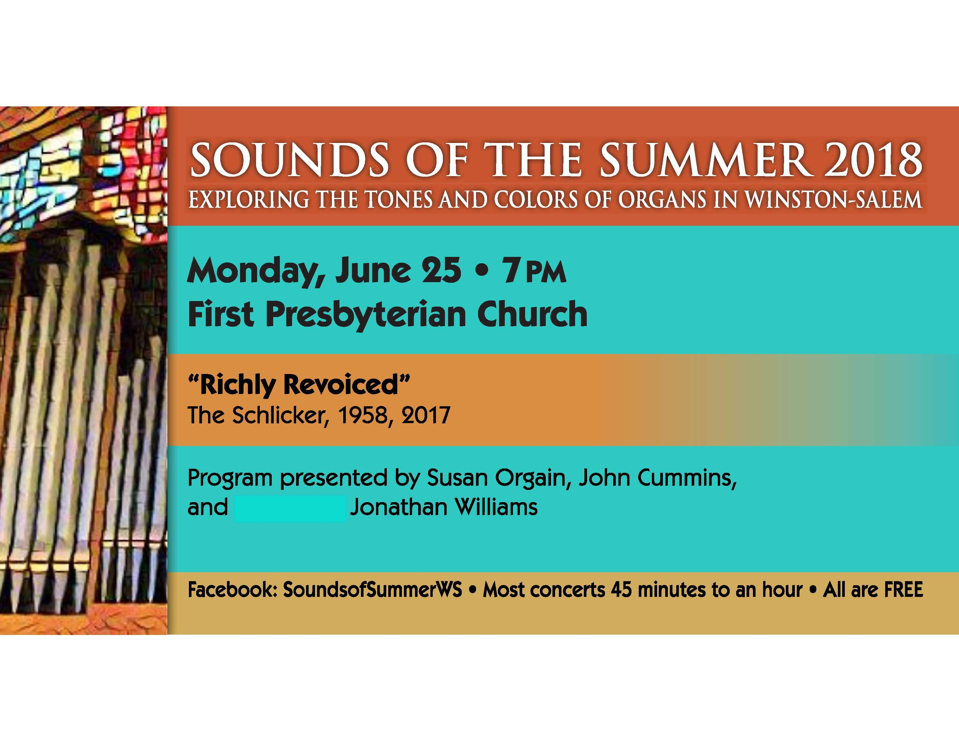 Sounds of the Summer Pipe Organ Series: Richly Revoiced