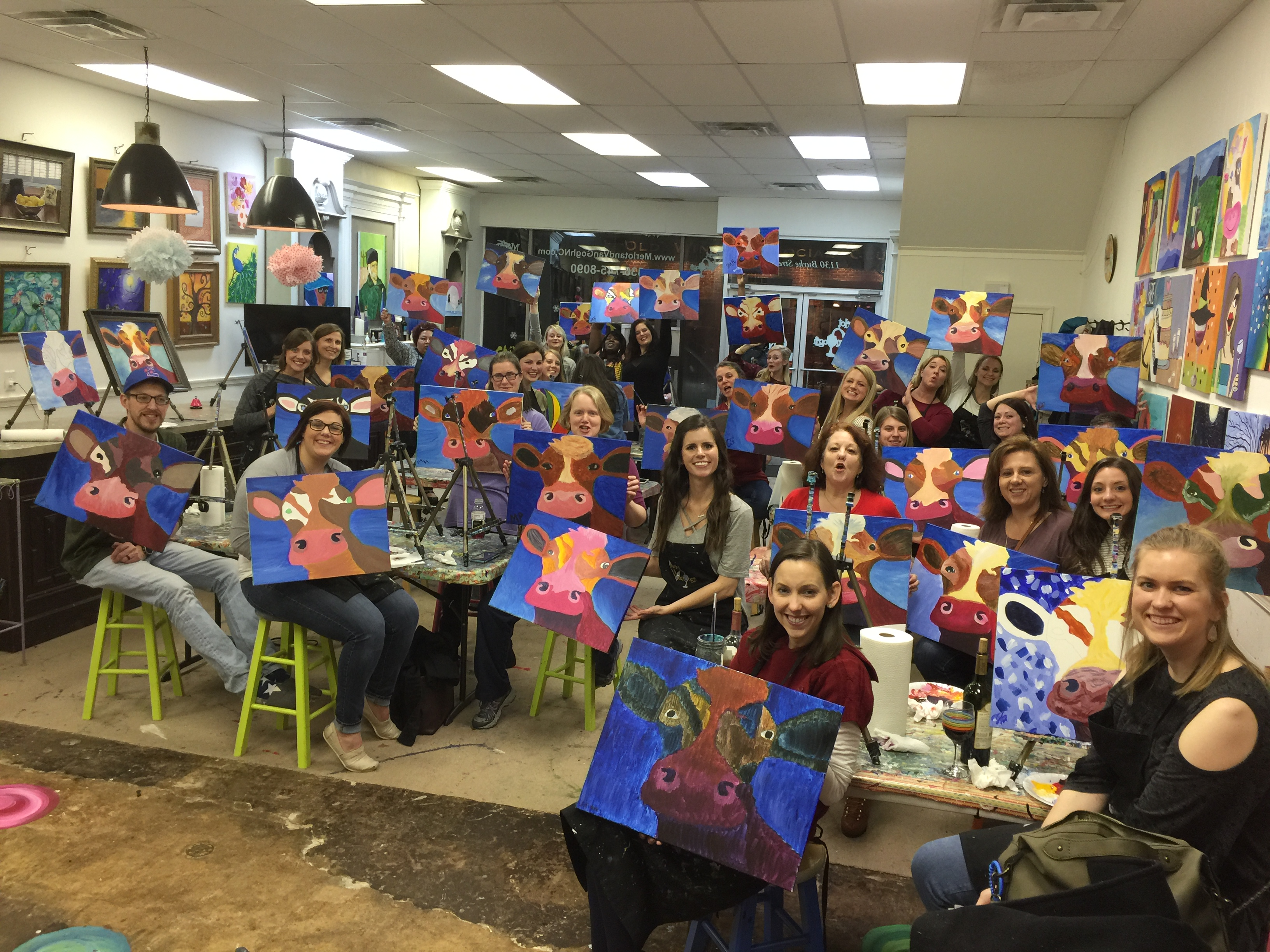 Wine & Paint at MERLOT & VANGOGH