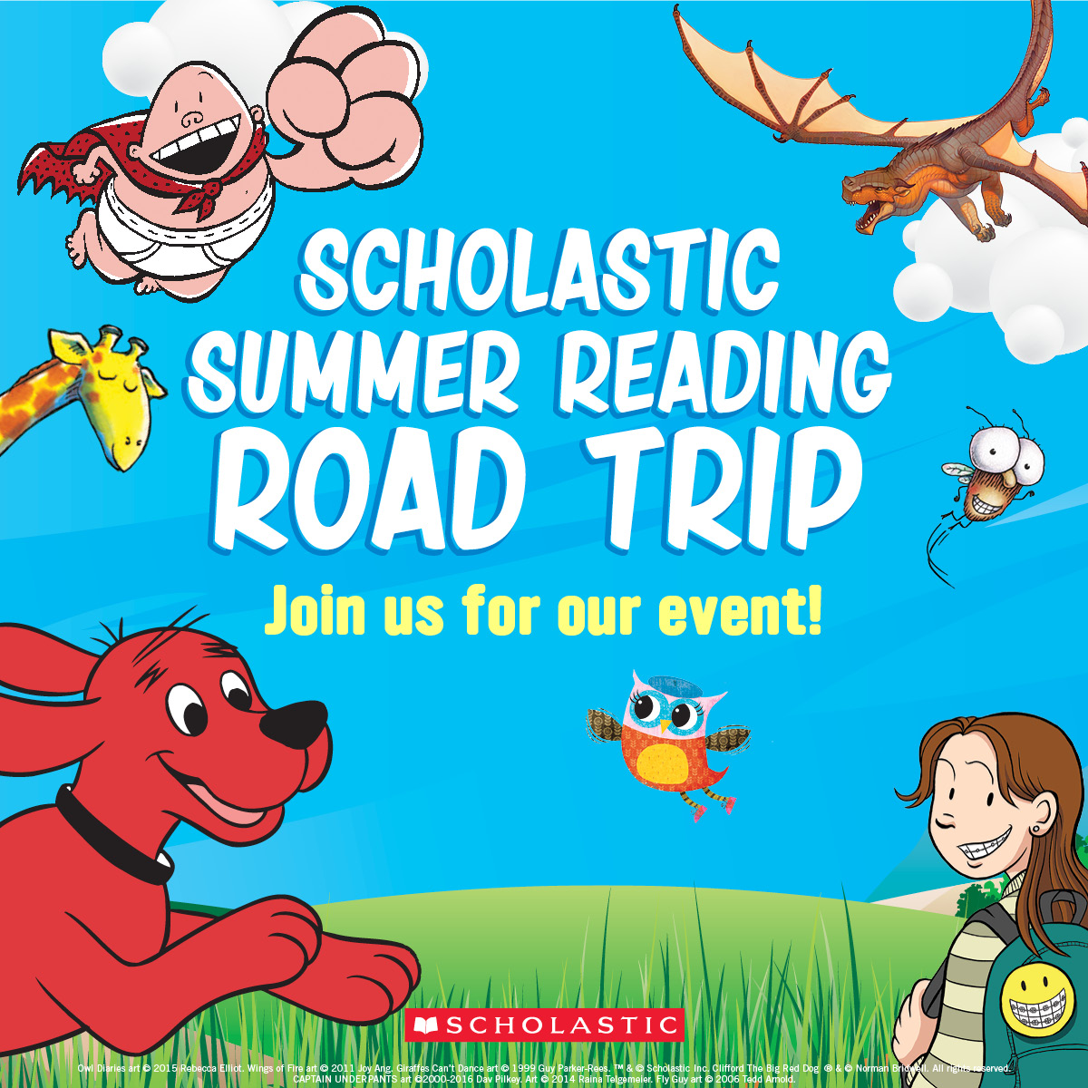 Summer Reading Road Trip with Scholastic Authors
