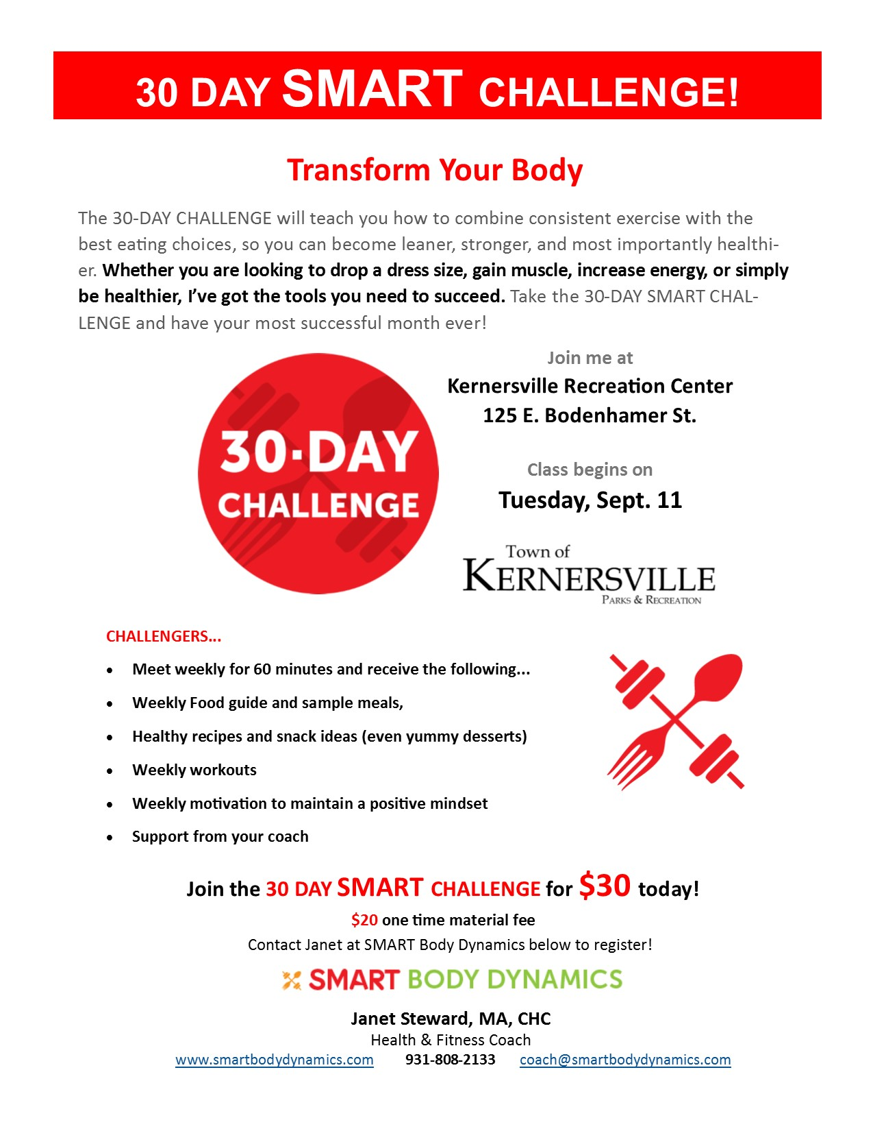30-Day SMART Challenge