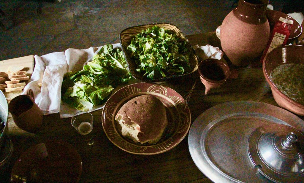 Hearth Cooling Day:  Cooking a Mid-Day Tavern Meal