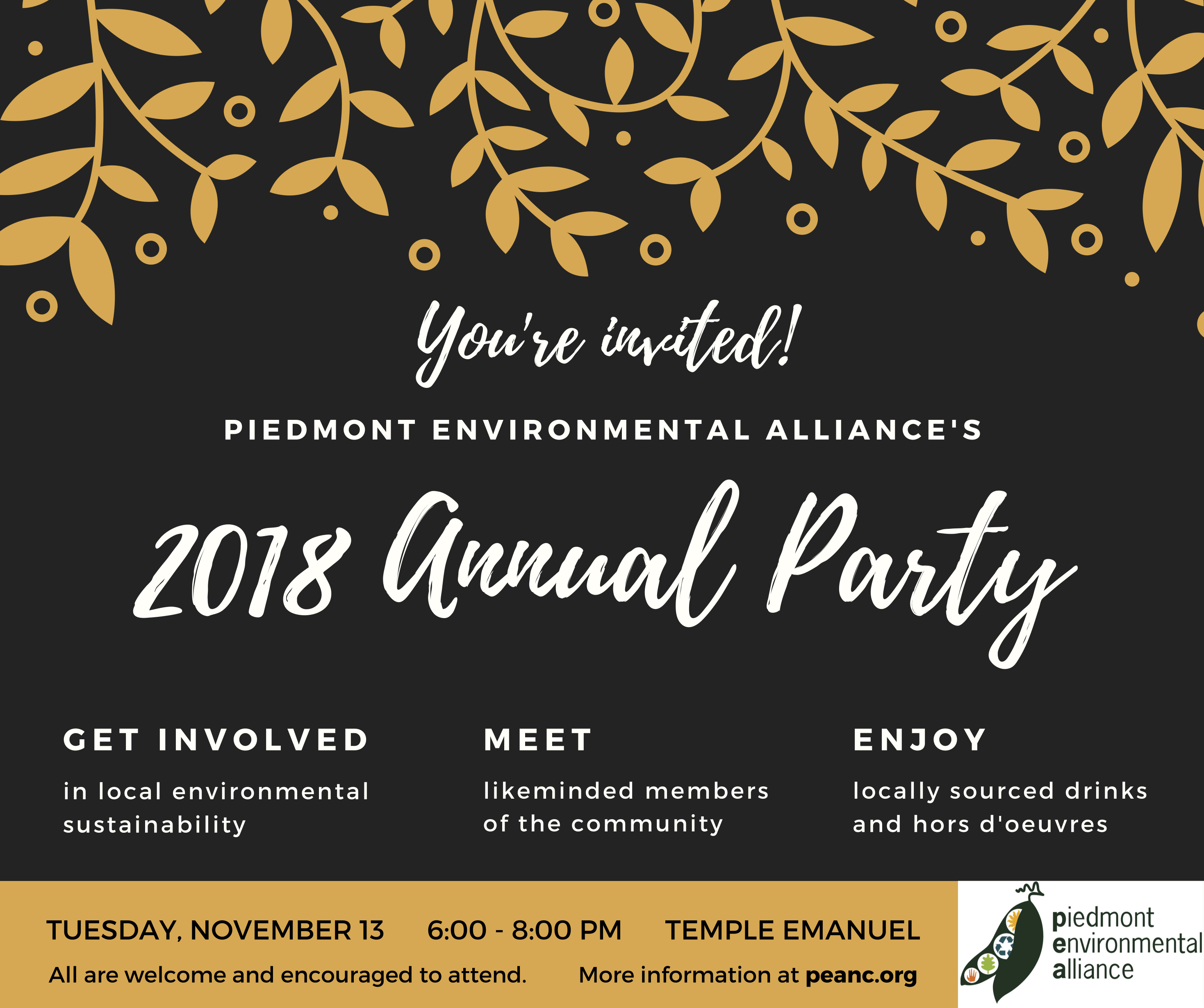 Annual Party for Piedmont Environmental Alliance