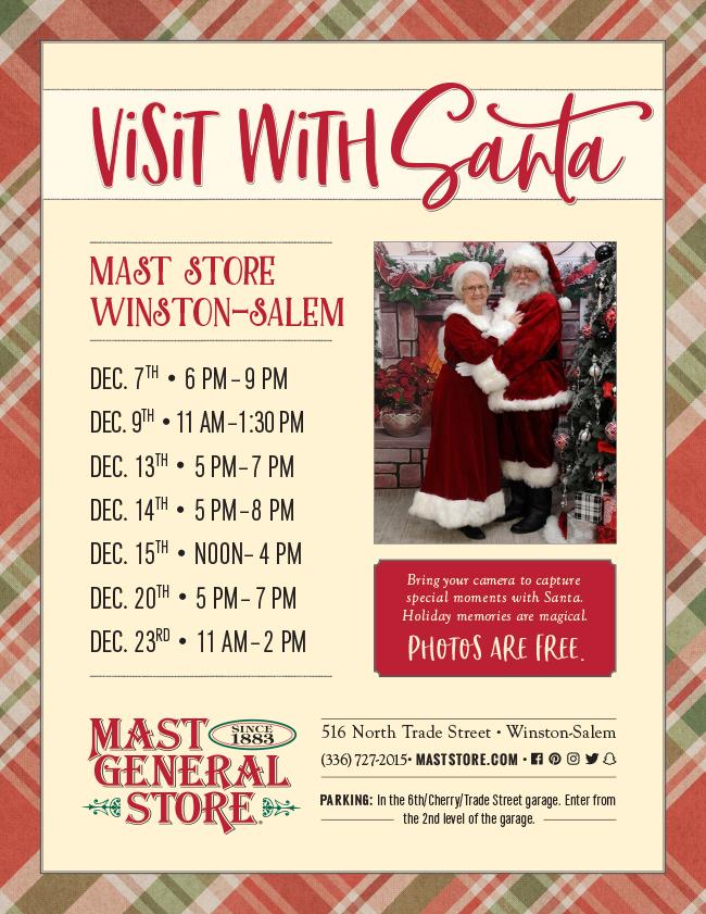Santa at Mast Store