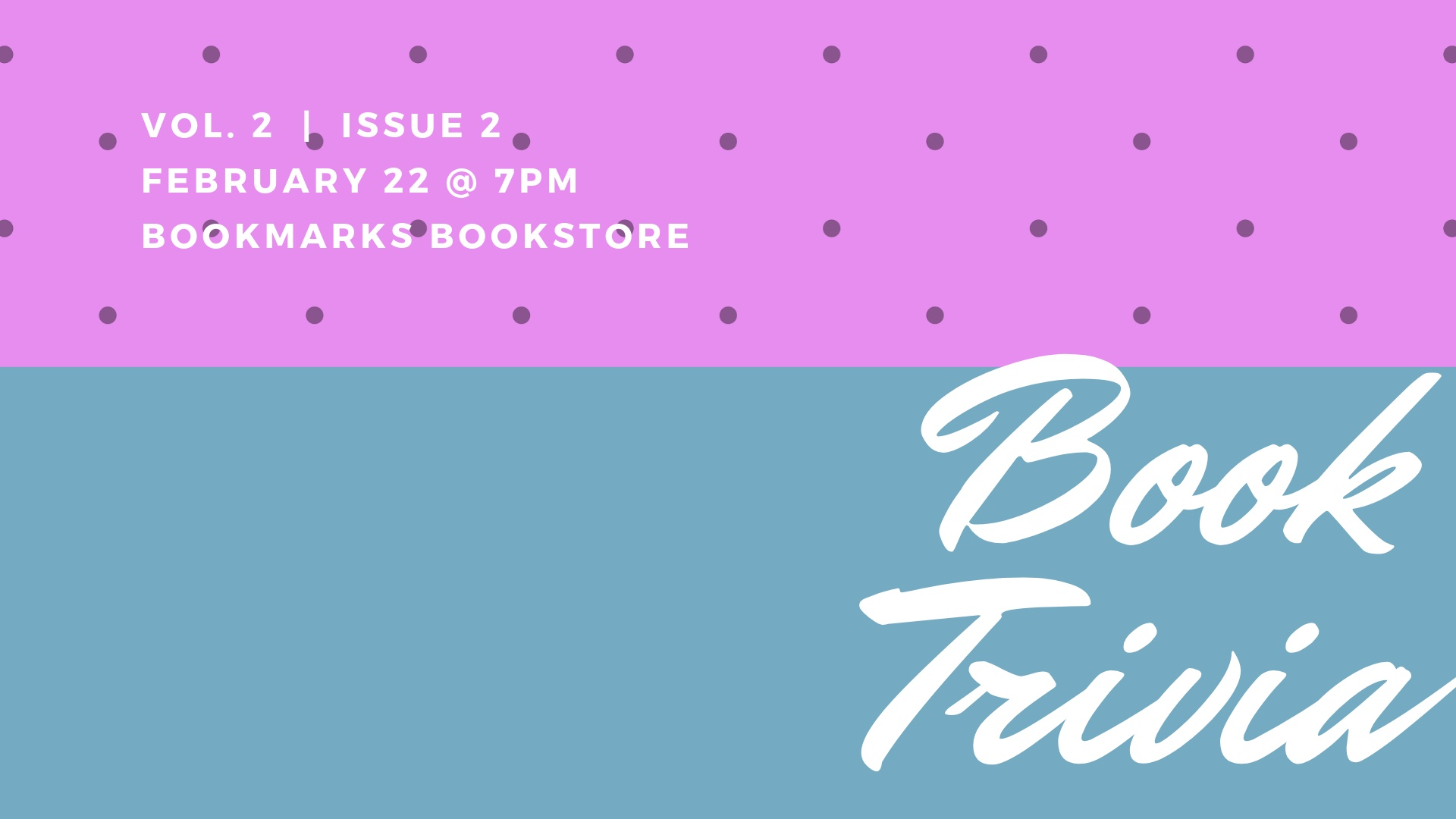 Book Trivia at Bookmarks