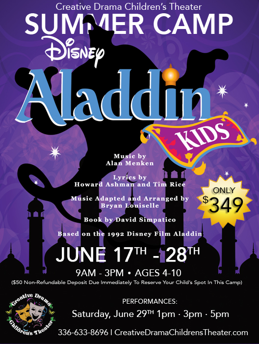 Aladdin Kids Musical Theater Summer Camp at Creative Drama Children's Theater
