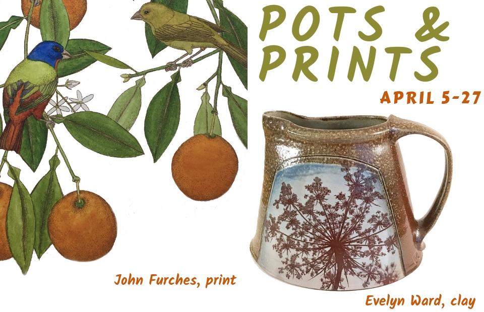 Pots & Prints Exhibition at Piedmont Craftsmen