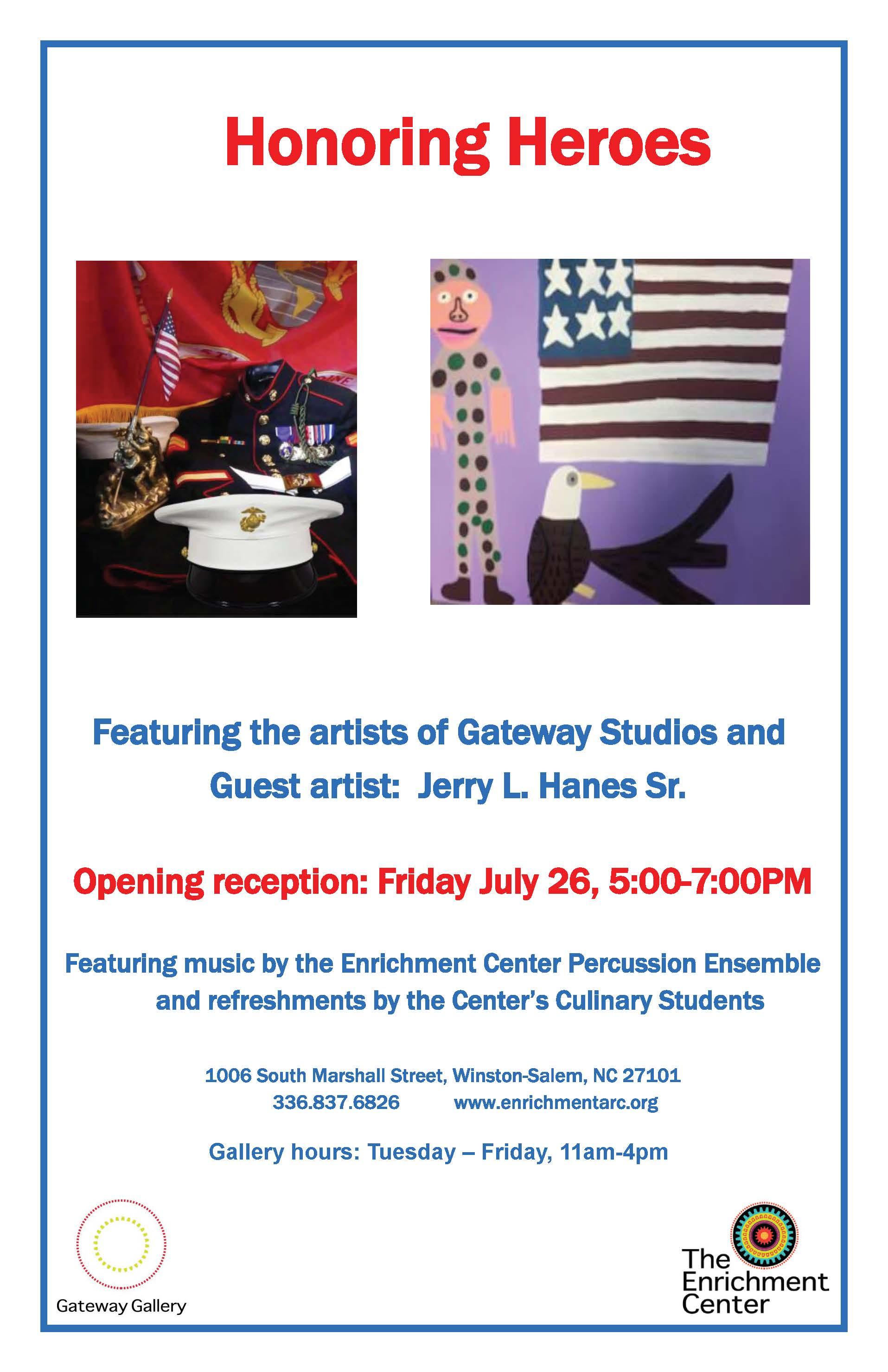 """Gateway Gallery presents """"Honoring Heroes"""" July 26"""