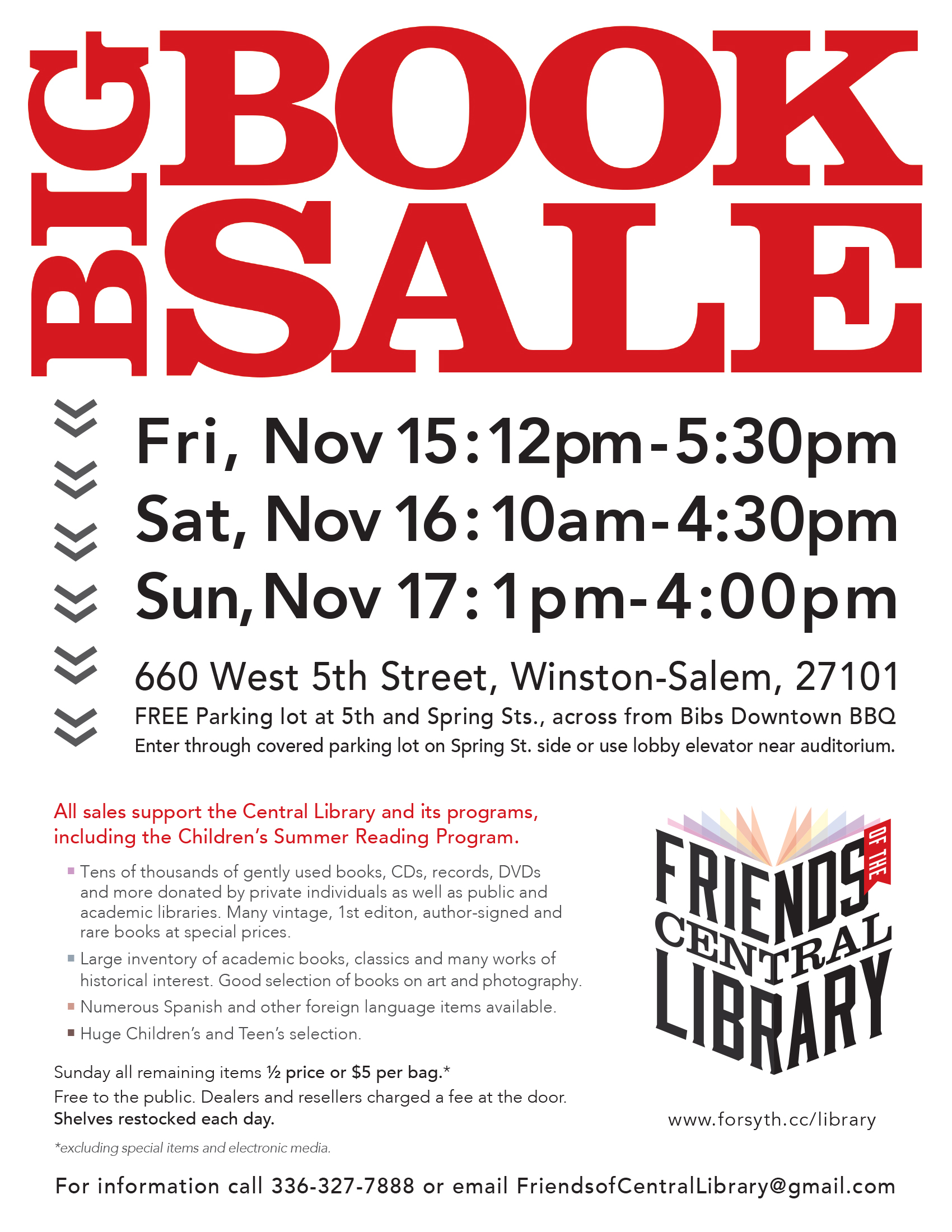 Friends of Central Library Big Book Sale