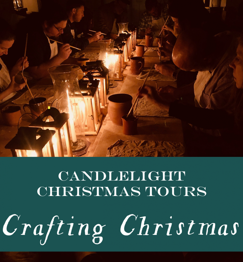 Old Salem Candlelight Tours 2019:  Crafting Christmas