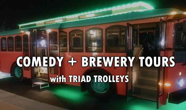 COMEDY + BREWERY Trolley Tours