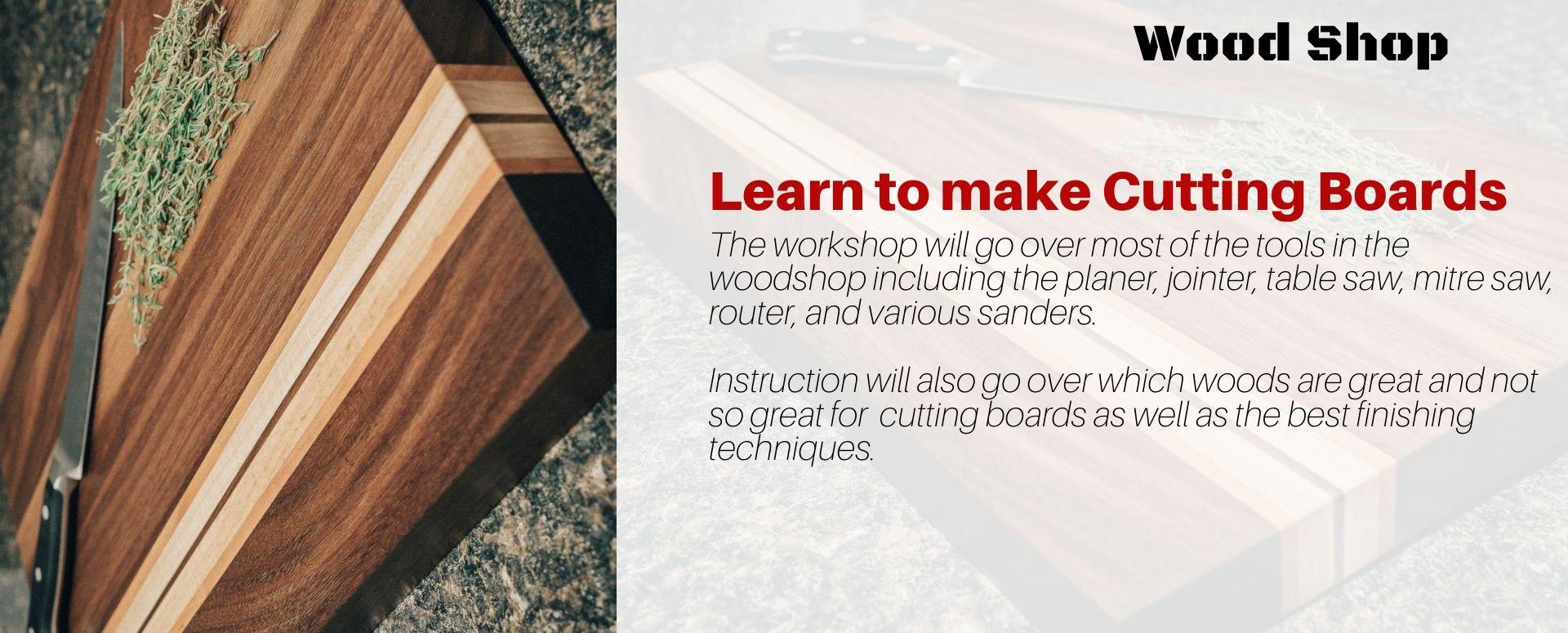 Beginner Cutting Board Workshop