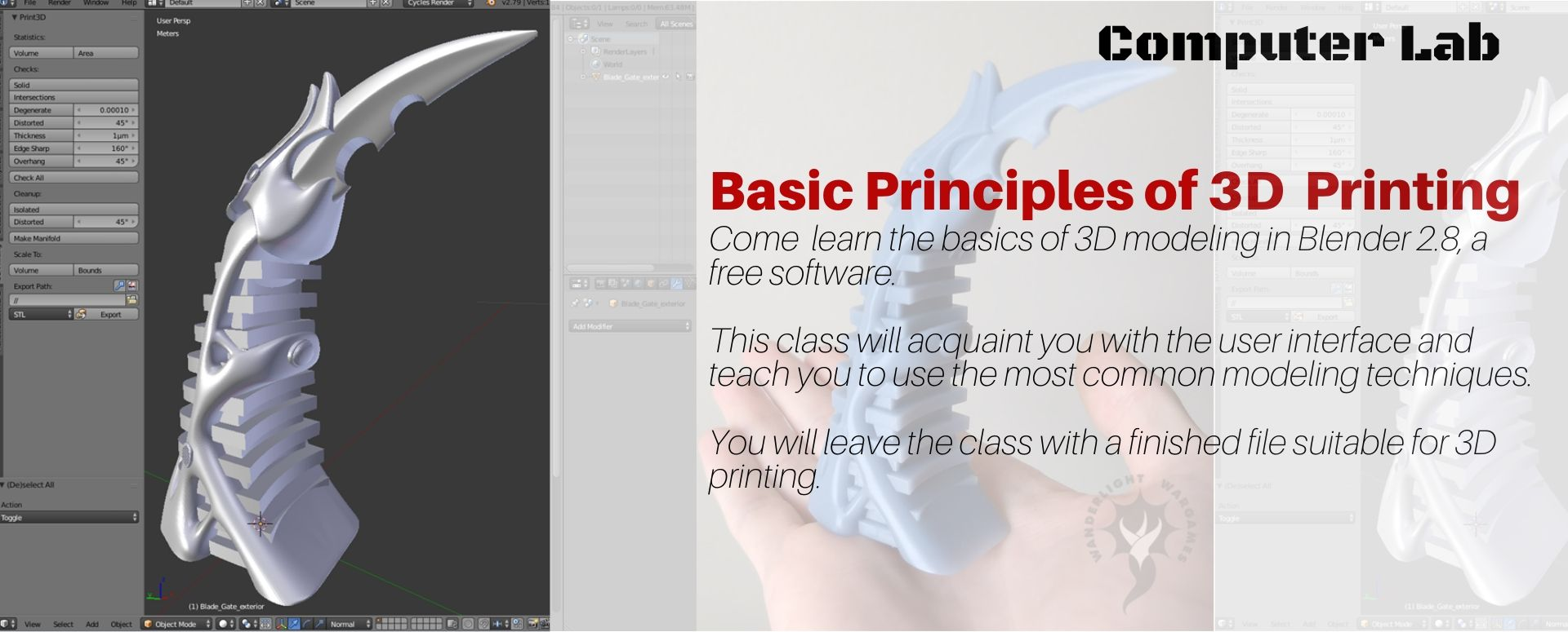 Blender 2.8 - Modeling for 3D printing INTRO Workshop